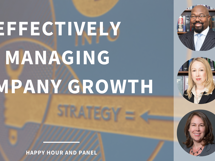 Effectively Managing Company Growth - Happy Hour and Panel